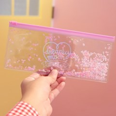 Pinky holic clear pouch_P_P_7.Glitter_Étoile rose