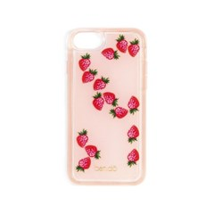 FLOATING ICONS IPHONE CASE - STRAWBERRY(아이폰 6,7,8호환)