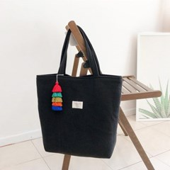 블랙 테슬 누빔가방