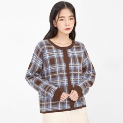 charming check mini cardigan_(1046571)