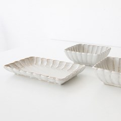 flower series - square plate (2size)