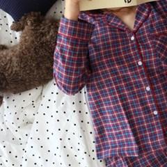 autumn check pajamas