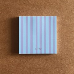 memo pad - lilac stripes