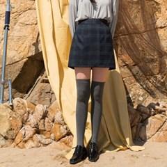 h-line check pattern skirt