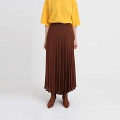 basic pleats banding skirt (4colors)