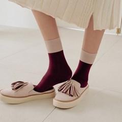포테이토 베이직 사계절 배색 포인트 패션양말