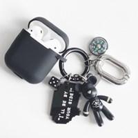 블랙 해골 Mini Charm + AirPods