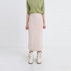soft texture knit long skirt (5colors)
