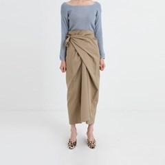 twist strap cotton skirt (2colors)