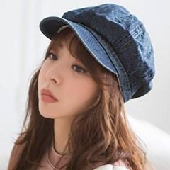 데님 헌팅캡 모자