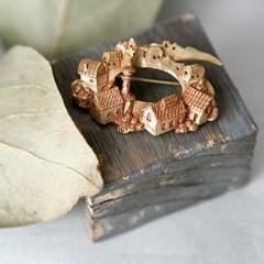 [러쉬룸][일본/팔나트폭] 금빛 동화마을 원형 브로치