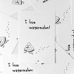 엽서 / I love watermelon