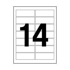 주소용 라벨(LS-3108/100매/14칸/폼텍)_(13303867)