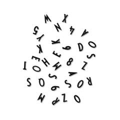 [디자인레터스]알파벳&숫자 132개(메세지보드 전용)-1.9cm