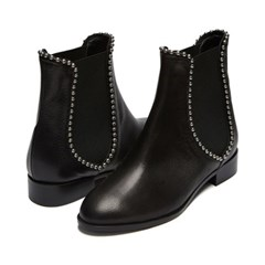 Silver ball ankle boots Black_3cm (고트가죽)