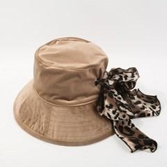 투웨이 레오파드 벙거지 버킷햇 모자