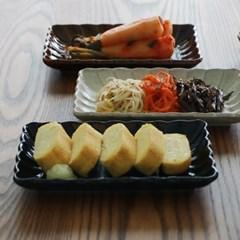 일본 코토리 하나 직사각 사각접시 3color
