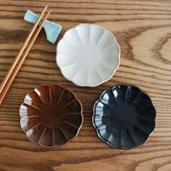 일본 코토리 하나 원형접시_미니 3color