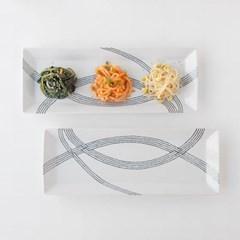 니코트 그레이 직사각 생선접시 대 JAPAN