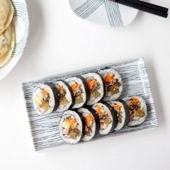 니코트 그레이 직사각 생선접시 중 JAPAN
