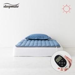 슬립메이트 더시티 네이비 싱글원적외선모드온열매트_(1075566)