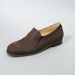 흰_HS1812 Nubuck Loafer_Brown