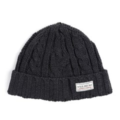 AP CABLE WATCH CAP (charcoal)