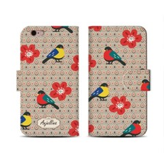 4Pocket Diary cover/ Retro. Bird
