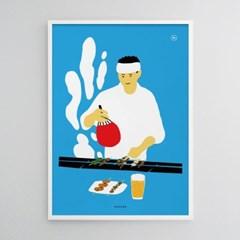 유니크 일본 인테리어 디자인 포스터 M 야키토리2 야키도리
