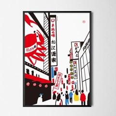 유니크 일본 인테리어 디자인 포스터 M 도톤보리2 일식소품