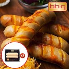 [BBQ] 치즈듬뿍 닭가슴살소시지(치즈맛)120g(60gX2)X5봉_(11553125)