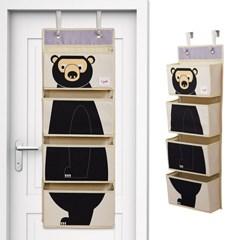 다용도 벽걸이 수납함-블랙곰