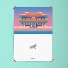 유니크 인테리어 디자인 포스터 M 경복궁과 해치