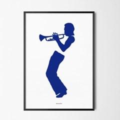 유니크 인테리어 디자인 포스터 M 마일스 재즈