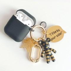 골드 스트라이프 Mini Charm + AirPods