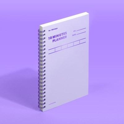텐미닛 플래너 100DAYS - 바이올렛 1EA