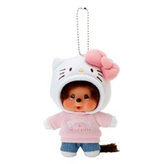 Hello Kitty x Monchhichi Big Head SS Mascot