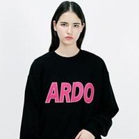 아더로브 ADRB LOGO 오버핏 맨투맨티 ACR183001-BK