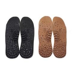 참숯 황토 은함유 발바닥지압 신발 깔창