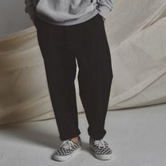 STG pintuck wide pants BK