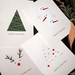 [텐텐클래스] (단체 클래스) 크리스마스 종이카드2개 만들기