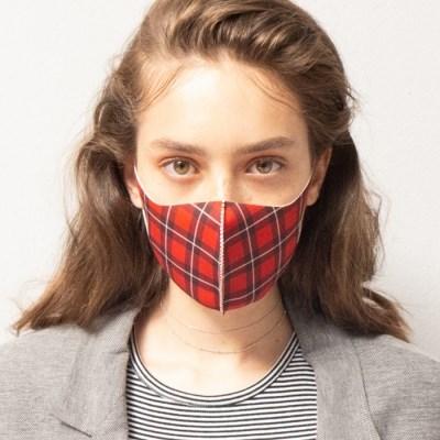 [르마스카] 패션 마스크 - 플레이드레드