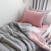 [바이아미] 피톤치드 베이직 순면차렵이불 (핑크그레이) - 퀸