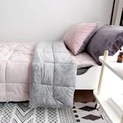 [바이아미] 무지투톤극세사차렵이불세트(핑크그레이)-싱글사이즈