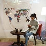 보헤미안 세계맵 패브릭포스터 150x130cm