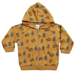 Brown Stamp Hoody