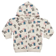Ivory Stamp Hoody