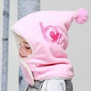 [BAY-B] 아동 후리스 히트후드넥워머 연핑크_(2298367)
