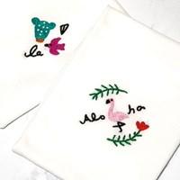 플라밍고 트로피칼 손수건 프랑스자수 패키지 도안 DIY 세트