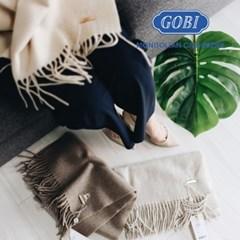 [GOBI]고비 캐시미어숄 100% 오가닉 170x68cm 오트밀